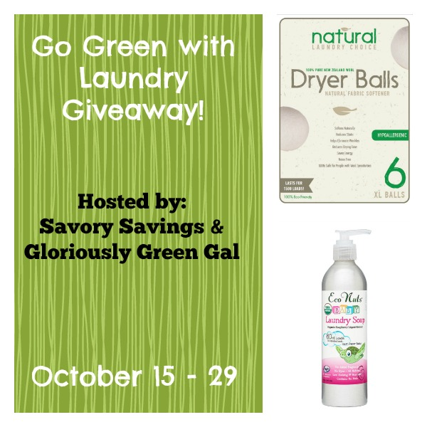 Go Green with Laundry Giveaway October 15 - 29