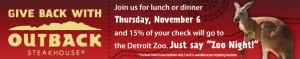 Don't Forget Outback Zoo Night Fundraiser