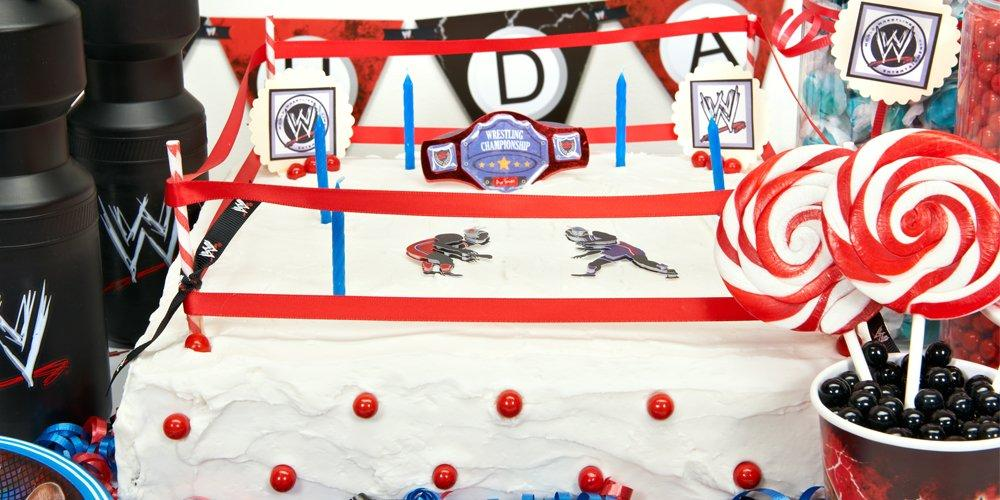 wwe party cake