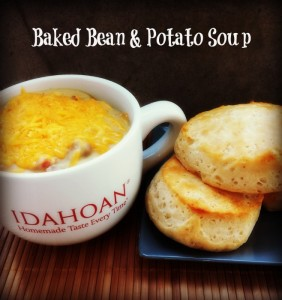 Easy Baked Bean and Potato Soup
