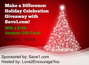 Make A Difference Amazon Gift Card Giveaway