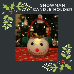 DIY Snowman Candle Holder