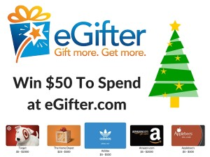 eGifter $50 Gift Card Giveaway #2015HGG