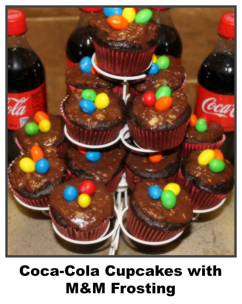 Coca-Cola Cupcakes with M&M Frosting Family Movie Night