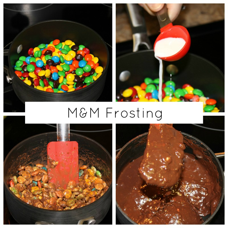 M&M Frosting Instruction Pictures