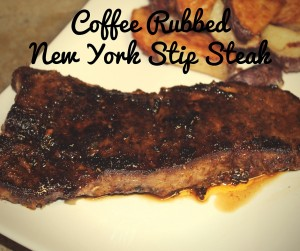 Coffee Rubbed New York Strip Steak