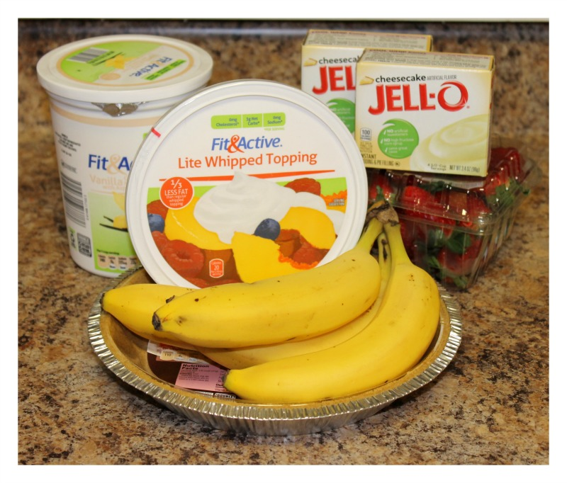 Ingredients for Strawberry Banana Cheesecake