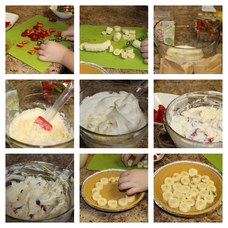 Steps to make Strawberry Banana Cheesecake