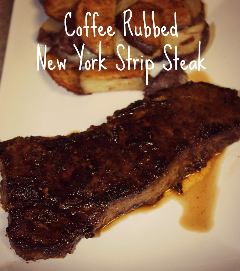 Tasty Coffee Rubbed New York Strip Steak