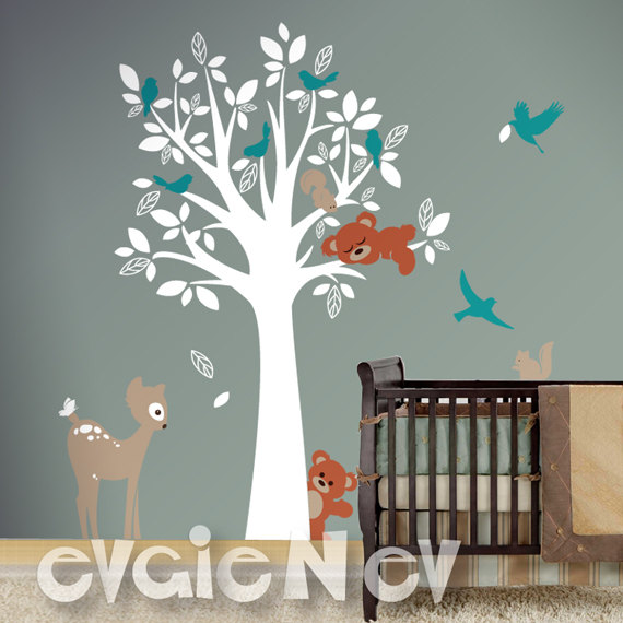 Evgie Forest Animal Friends Wall Decals