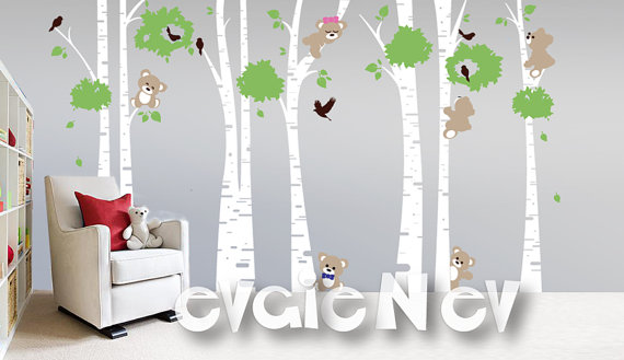 Evgie Bears Wall Decals
