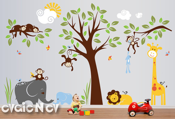 Evgie Safari Wall Decals