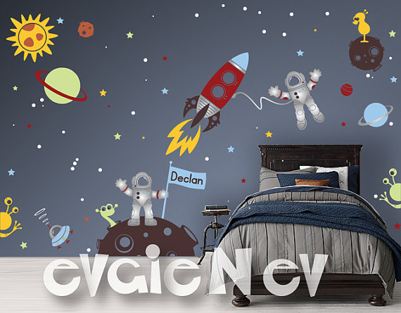Evgie Space Wall Decals