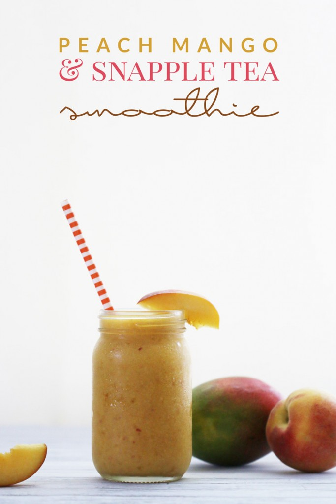 Peach-Mango-Snapple-Tea-Smoothie