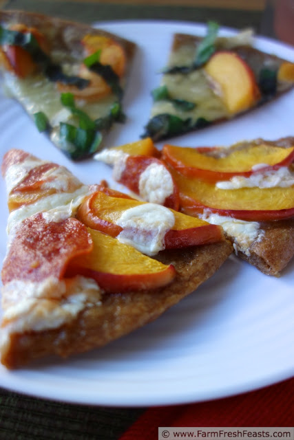 Peach and Brie Pizza