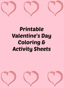 Free Kid's Valentine's Day Coloring and Activity Sheets
