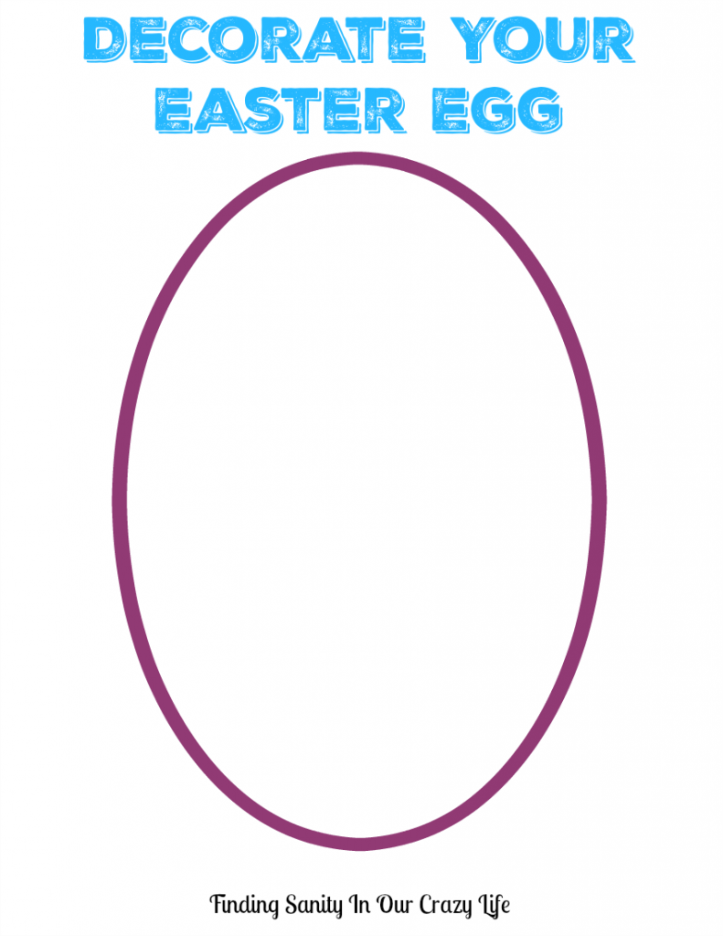 Decorate Easter Egg Coloring Page