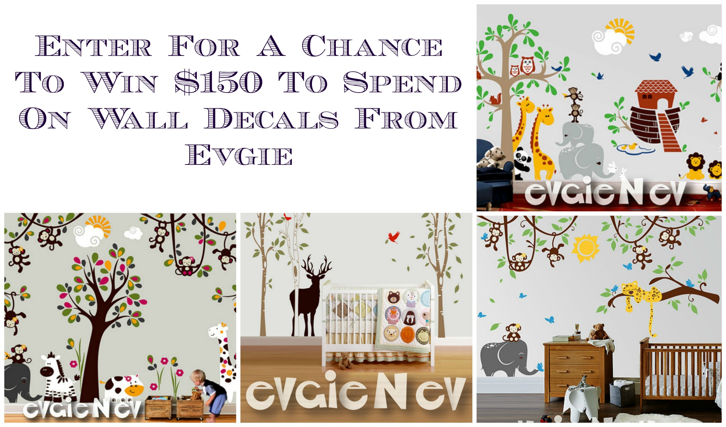 March Evgie Wall Decals Giveaway   Finding Sanity in Our Crazy Life
