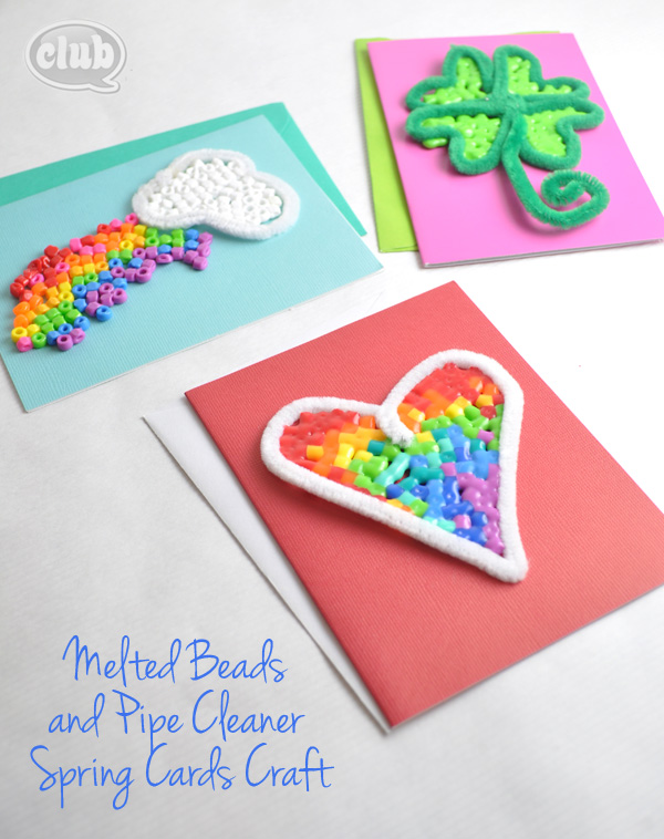 Melted-Beads-and-Pipe-Cleaner-Spring-Cards-Craft