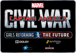 "CAPTAIN AMERICA: CIVIL WAR – ""Girls Reforming the Future Challenge"""