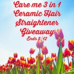 Care me 3 in 1 Ceramic Hair Straightener Giveaway