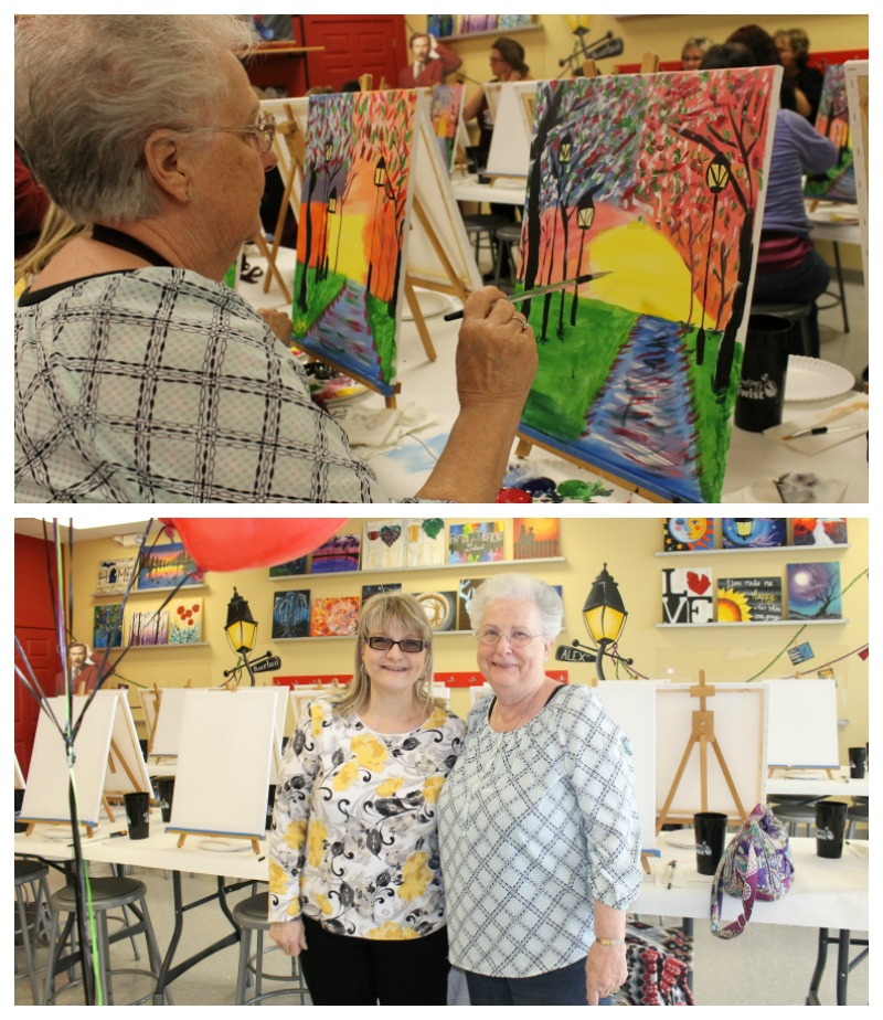 Friend Fun at Painting With a Twist