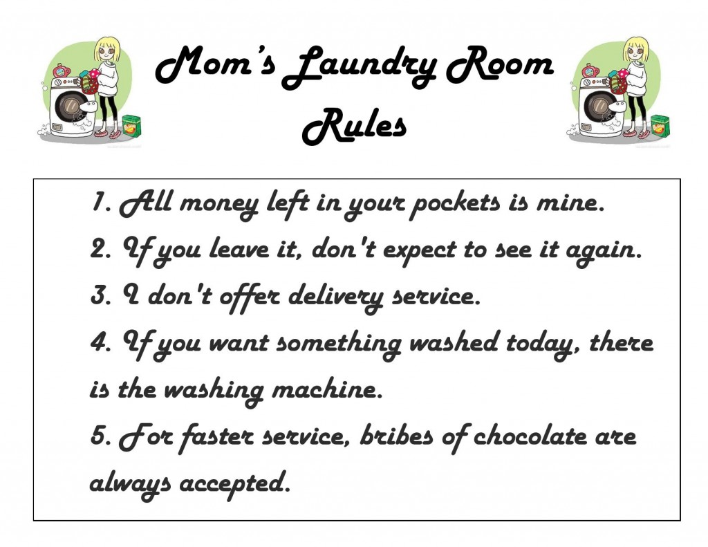 Printable Laundry Room Rules Sign Trymembersmark