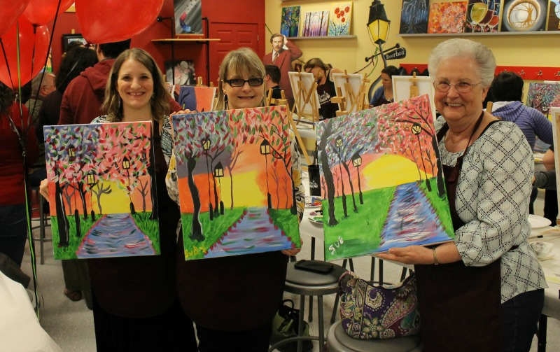 Our Finished Paintings at Painting With a Twist