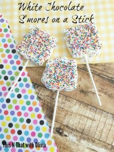 White Chocolate Smores on a Stick (12 Days of Summer)