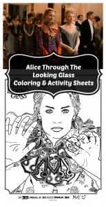 Free Printable Alice Through The Looking Glass Coloring Sheets