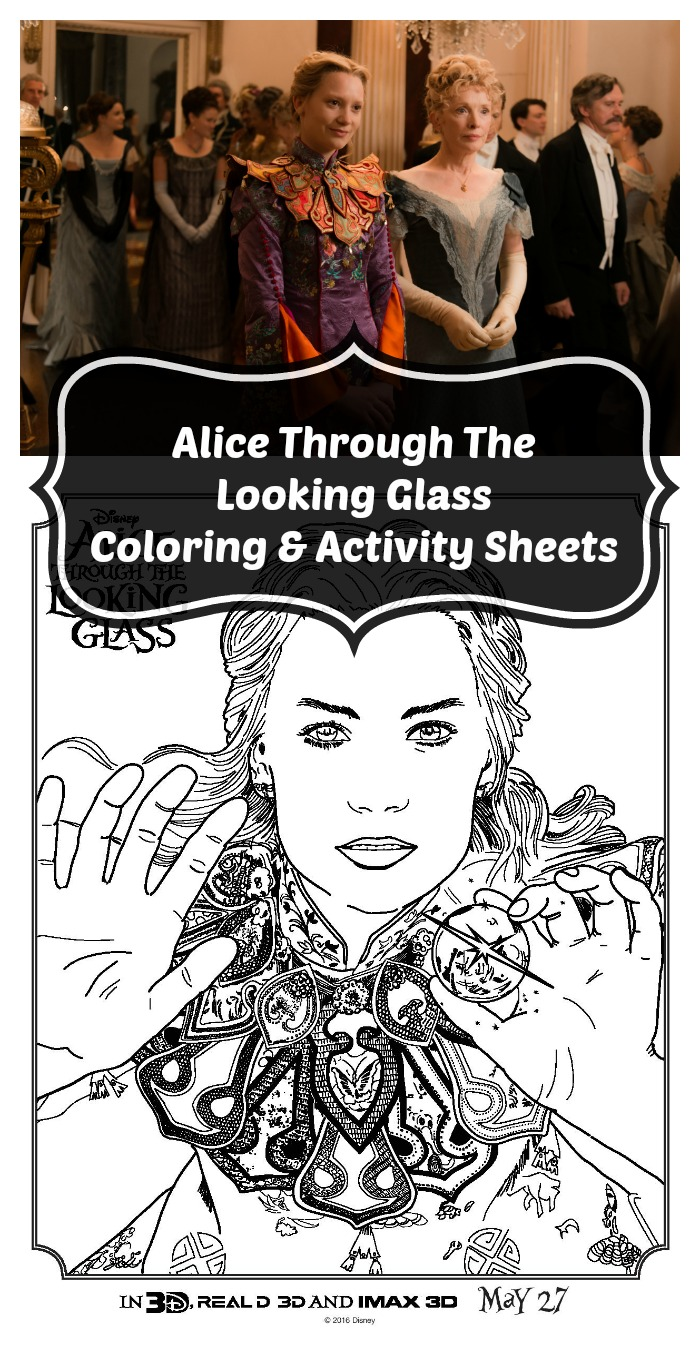 Free Printable Alice Through The Looking Glass Coloring