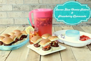 Delicious Bacon Blue Cheese Sliders  & Strawberry Lemonade Recipes