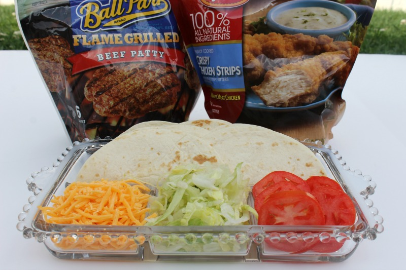 Cheesy Chicken and Cheeseburger Wraps Ingredients