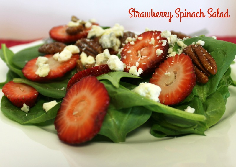 Delicious Strawberry Spinach Salad