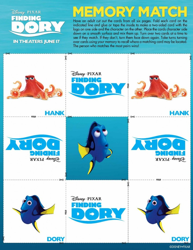 Finding Dory Memory Game-page-001