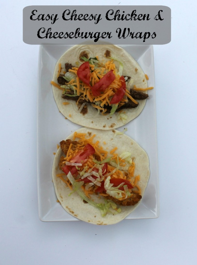 High Protein Cheesy Chicken and Cheeseburger Wraps