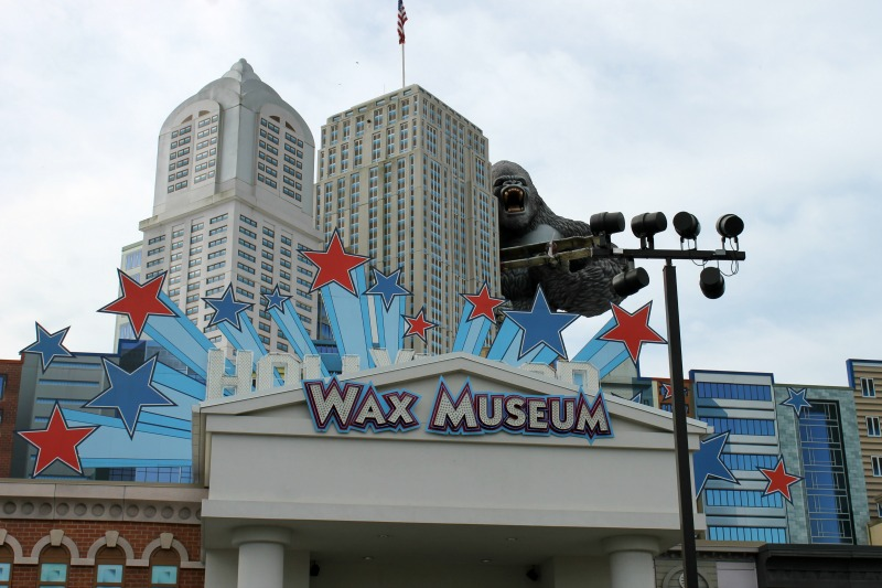 Outside Hollywood Wax Museum Pigeon Forge