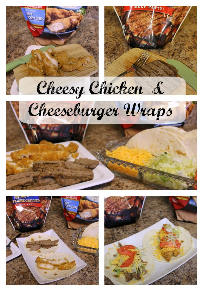Simple Steps For Cheesy Chicken & Cheeseburger Wraps