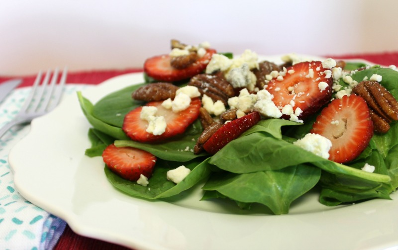 Tasty Strawberry Spinach Salad