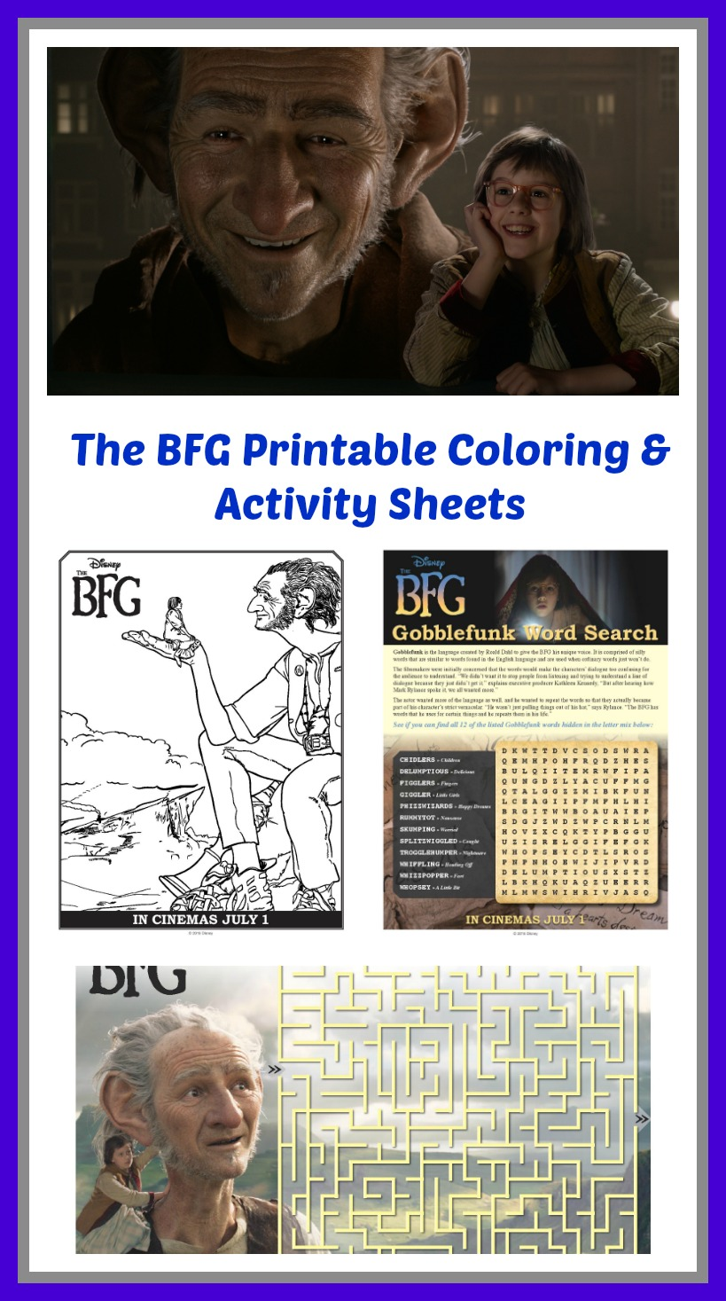The BFG Coloring Printables