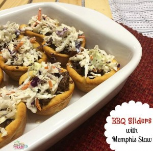BBQ Sliders with Memphis Cole Slaw