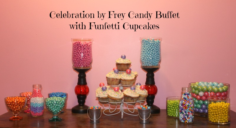 Candy Buffet with Funfetti Cupcakes
