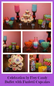 Celebration by Frey Summer Candy Buffet With Funfetti Cupcakes