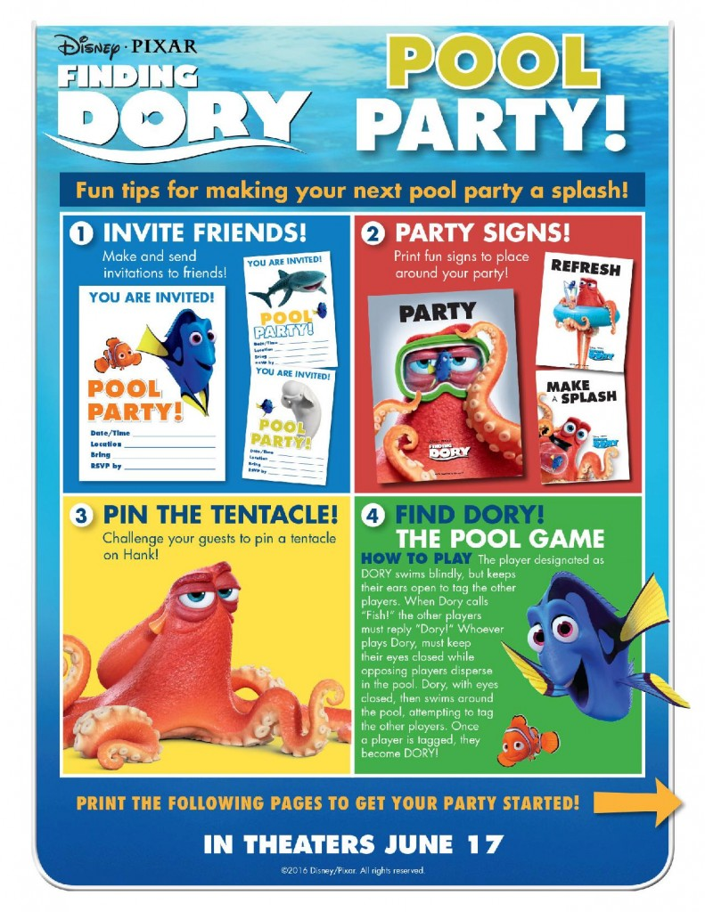 Finding Dory Party Pack-page