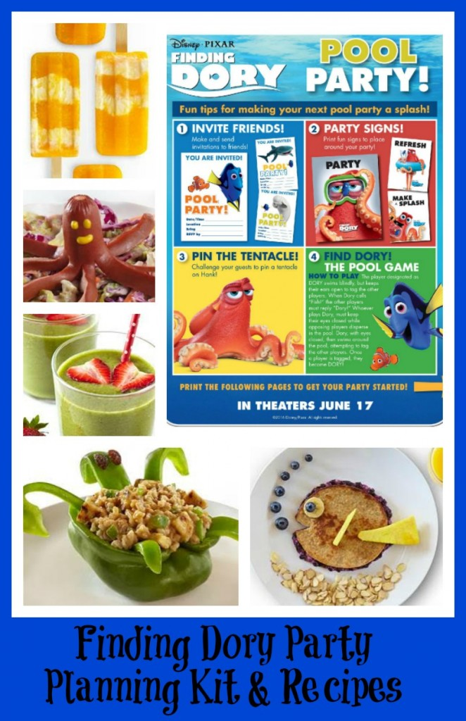 Finding Dory Party Planning Kit and Recipes