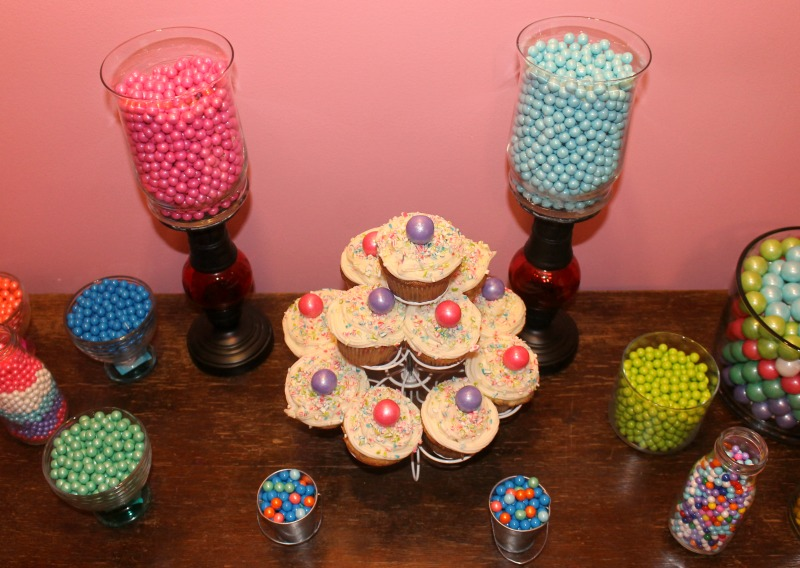 Funfetti Cupcakes and Candy Buffet
