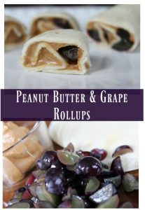 Peanut Butter & Grape Rollups – 12 Days of School Lunch Ideas