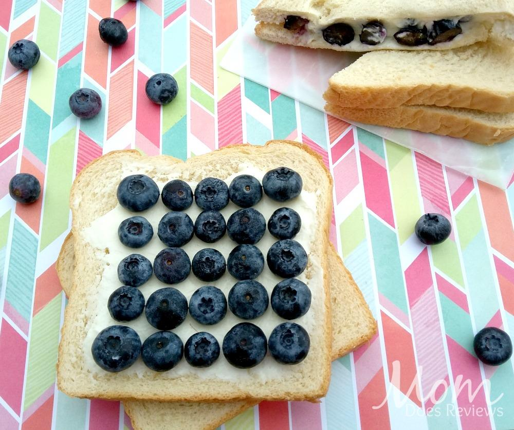 Sweetened Berry and Cream Cheese Sandwich