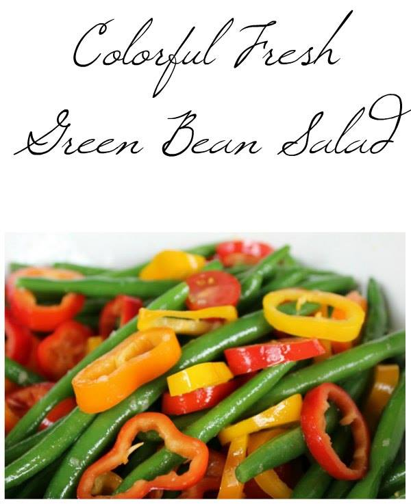 Colorful Fresh Green Bean Salad