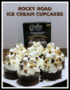 Rocky Road Ice Cream Cupcakes